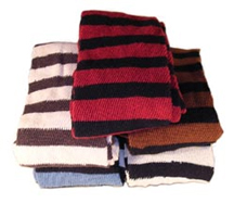 Cotton Stockings with Horizontal Stripe [#14HS]