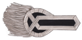 British Officer Epaulet, Style 1 (Navy & Silver) [#BOE1E]