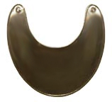 Plain French & Indian War Gorget, Brass [#36B]