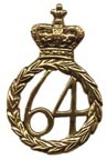 British Cartridge Box Badge - 64th Regiment [#376B]
