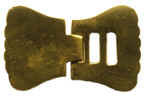 British Enlisted Man's Neck Stock Buckle, Brass [#NSB86]