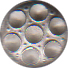 Small Civilian Pewter Button, 1/2