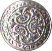 Small Civilian Pewter Button, 5/8