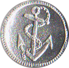 Fouled Anchor Pewter Button, 7/8
