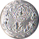 42nd Highland Regiment Pewter Button, 7/8