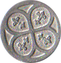 Large Civilian Pewter Button, 7/8