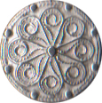 Medium Civilian Pewter Button, 3/4
