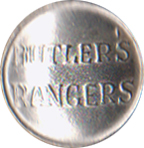 Butler's Rangers Pewter Button, 1