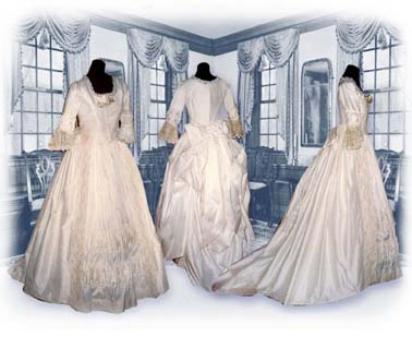 18th century bridal and wedding attire style 1 gbg4 for 18th century wedding dress