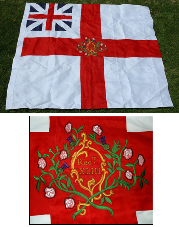 British Flag 43rd Regt. [#FLAG2]