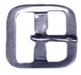 White Bronze Strap Buckle, 3/4
