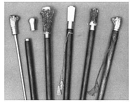 Walking Cane, with Antler, Brass or White Bronze Head [#GWC1]