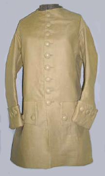 Civilian Linen Frock Coat with Plain Pewter Buttons [#CC3]