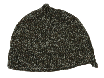 Williamsburg Brown & Tan Wool Knit Cap [#GKC2]