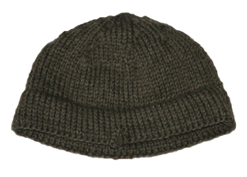 Williamsburg Brown Wool Knit Cap [#GKC1]