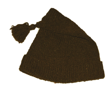 Brown Wool Knit Cap [#GKC6]