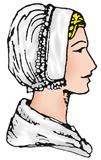 Ladies' Laced Coif [#GLCH1]