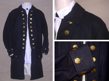 Naval Officer Undress Coat with Wool or Linen Turnbacks [#MC12]