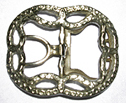 Civilian Shoe Buckle, Brass [#SB467]