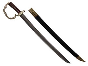 Hunting Sword, Brass Hardware & Rosewood Grip [#448]