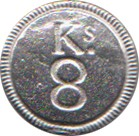 "King's 8th Regiment Pewter Button, 7/8"" [#GPB11]"