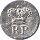 "Royal Provincials ""RP"" Pewter Button, 7/8"" [#GPB12]"