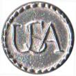 "United States of America  ""USA"" Pewter Button, 5/8"" [#GPB33]"