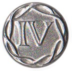 "Fourth Regiment ""IV"" Pewter Button, 1"" [#GPB40]"