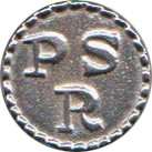 "Pennsylvania State Regiment ""PSR"" Pewter Button, 7/8"" [#GPB7]"