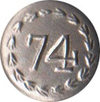 "74th Regiment Pewter Button, 1"" [#GPB74]"