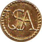 "Gold Plated ""USA"" Button, 7/8"" [#GSB7]"