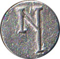 "New York Regiment ""NY"" Pewter Button, 7/8"" [#GPBNY]"