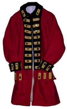 British Officer Regimental Coat with Wool or Linen Turnbacks [#MC15]