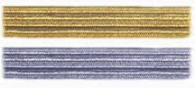 "1/2"" Regimental Lace for Buttonholes & Trim, Gold & Silver Bullion [#GRL6]"
