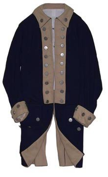 American Officer Regimental Coat with Wool or Linen Turnbacks [#MC9]