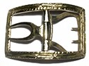 Civilian Shoe Buckle, Brass [#95]