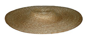 "Ladies' Low Crown 13"" Straw Hat, Natural [#GLSH3]"