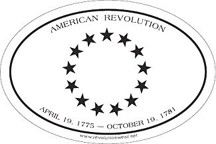 American Revolutionary War Sticker - 13 Stars [#RWS1]