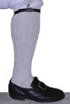 Cable Knit Cotton Stockings [#14C]