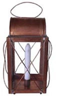 Copper Watch Lantern with Wire Guards and Domed Top [#251RC]