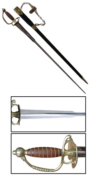 Small Sword with Brass Hardware & Rosewood Grip [#370C]