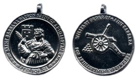 Saint Barbara Medal, Pewter [#7P]