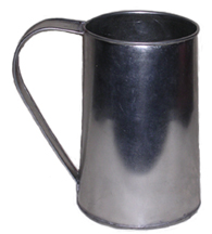 Tin Drinking Mug, Quart [#92]