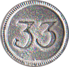 33rd Regiment Pewter Button, 7/8