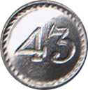 43rd Regiment Pewter Button, 7/8