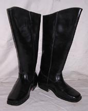 Men's Black Leather Riding Boots [#CWB1]