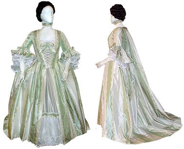 "18th Century Bridal and Wedding Attire ""Style 3"" [#GBG8]"