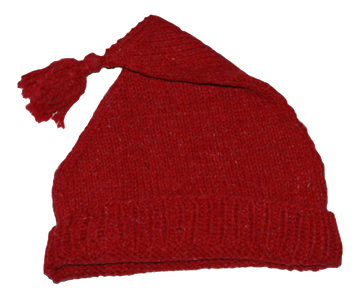 Red Wool Knit Cap [#GWH1]