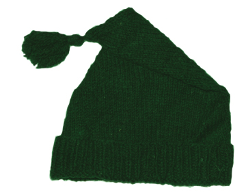 Green Wool Knit Cap [#GKC5]