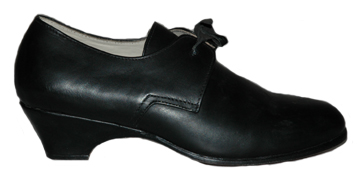 Ladies' Dress Shoe, Timber Heel, Black [#GWS6]